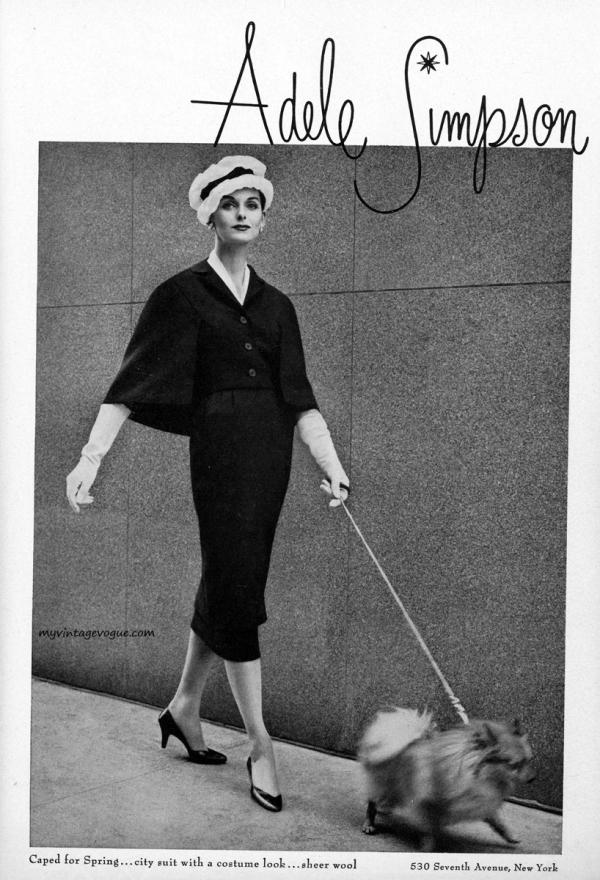 adele simpson 1957 anne st marie Vintage Fashion: Adele Simpson