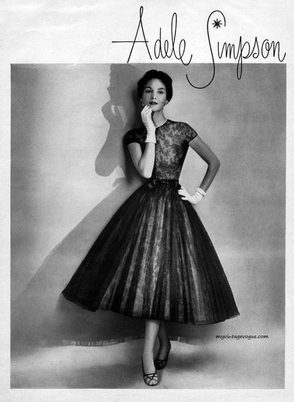 adele simpson sherry nelms 1953 Vintage Fashion: Adele Simpson