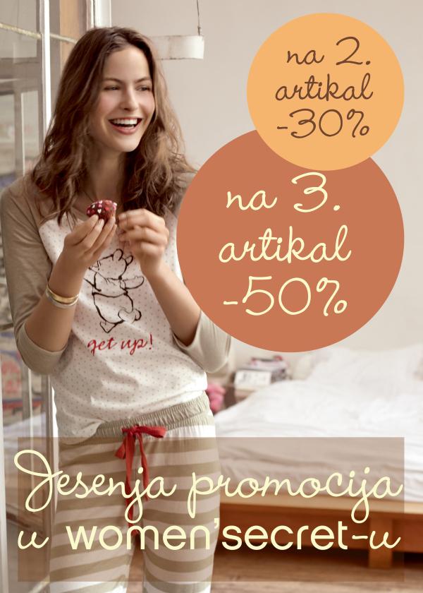jesenja promocija oglas A4 Jesenja promocija u women'secret u
