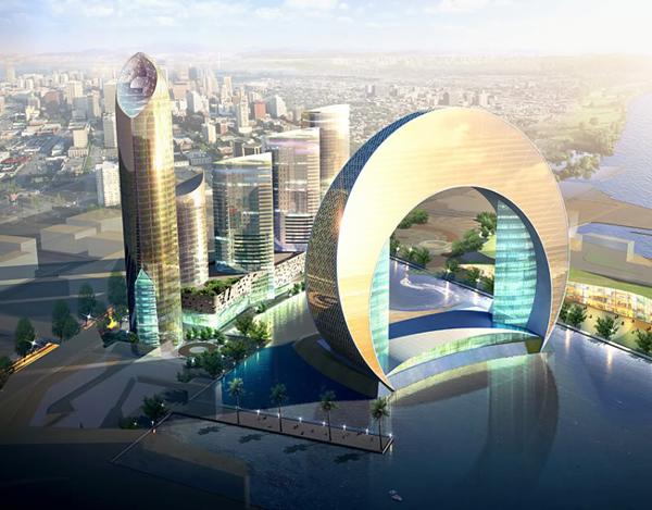 pomoćnim stubovima Wind 1 i 2 će biti najluksuzniji resorani ali i pozorište bioskopi i nezaobilazni tržni centri Hoteli u Azerbejdžanu inspirisani mesecom