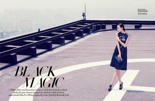 shu pei1 Harper's Bazaar Singapore i Shu Pei: Crna magija