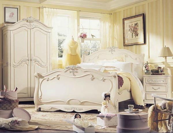 slika 1 spavaca soba Devojačke sobe – romantični, vintage stil