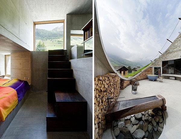 slika 45 Vila snova na obroncima Alpa