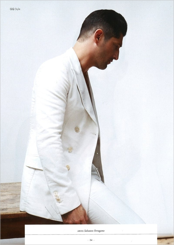 tonyward61 Tony Ward u belom za jesenji GQ Style Italia