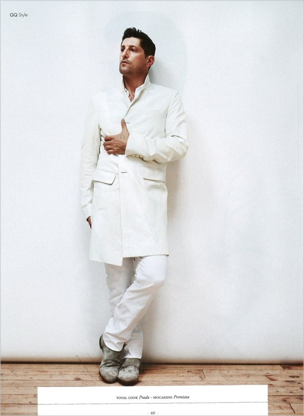 tonyward71 Tony Ward u belom za jesenji GQ Style Italia