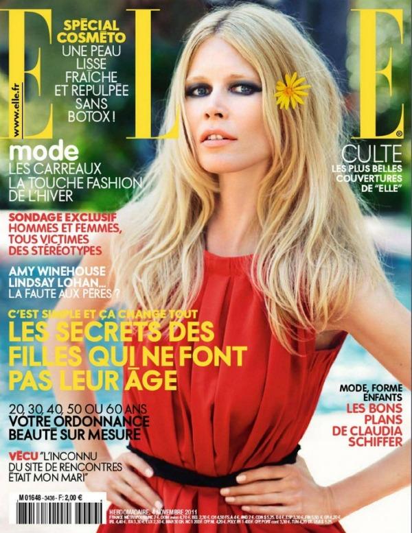 11 ClaudiaFrance11 Godina kroz naslovnice: Magazin ELLE