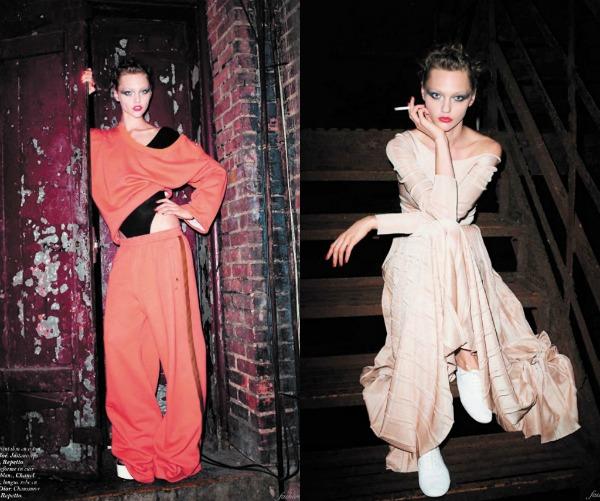 236 Zaplešimo: Sasha Pivovarova za Vogue Paris