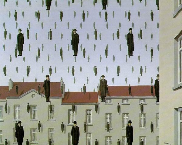 3. Golconda Slikar nadrealista: René Magritte