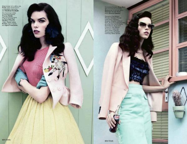 379 Meghan Collison za Vogue Russia: Dama iz pedesetih