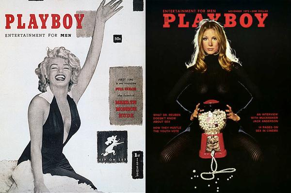 4.Dve najznačajnije naslovnice u istoriji magazina. Prva i ona iz broja prodatog u rekordnih 7 miliona kopija1 Ljudi koji su pomerali granice: Hugh Hefner
