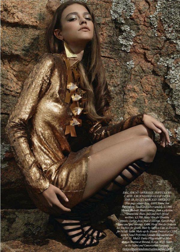 427 Zlatna groznica: Daria Pleggenkuhle za Harpers Bazaar UK