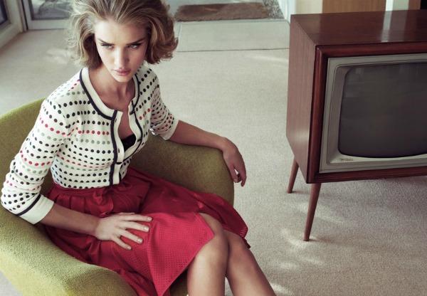 459 Dolina šezdesetih: Rosie Huntington Whiteley za Harper's Bazaar UK