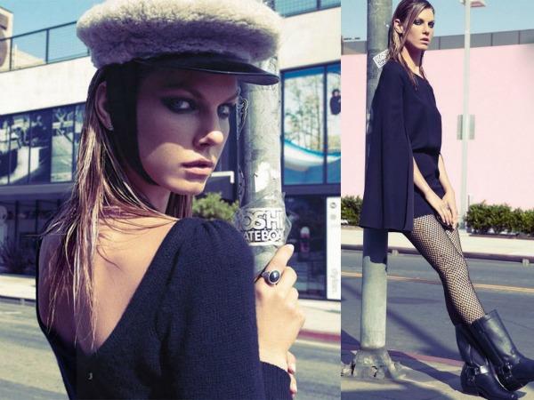 A1 Mala crna haljina: Angela Lindvall za Elle France