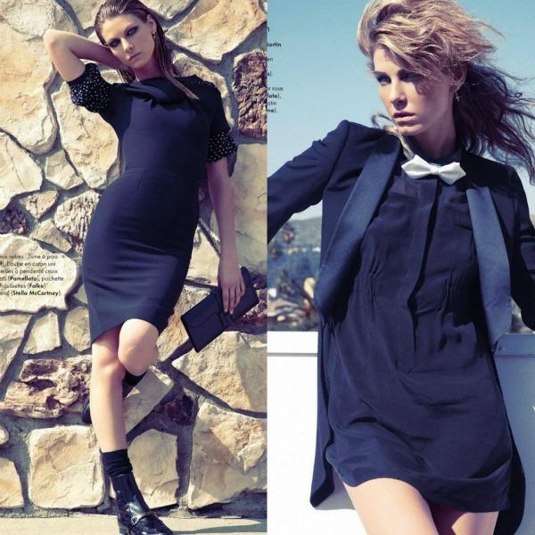 AAAAA1 Mala crna haljina: Angela Lindvall za Elle France