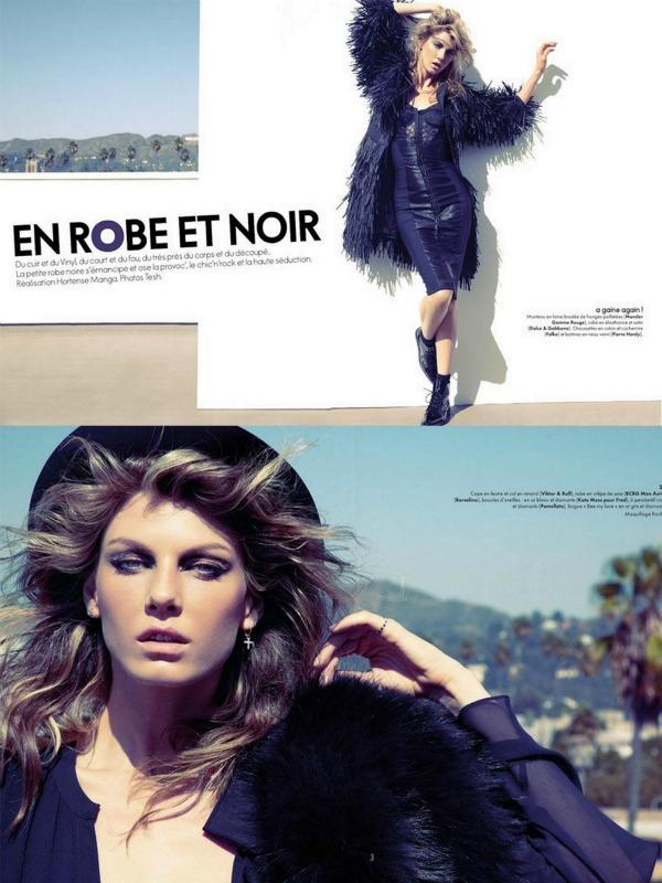 AAAAAAAA1 Mala crna haljina: Angela Lindvall za Elle France