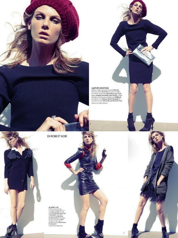 AAAAAAAAA1 Mala crna haljina: Angela Lindvall za Elle France