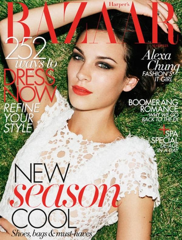 Alexa Chung Harpers Bazaar Australia October 1 Godina kroz naslovnice: Harpers Bazaar