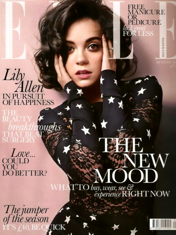 Elle UK August 2011 Cover Lily Allen Godina kroz naslovnice: Magazin ELLE