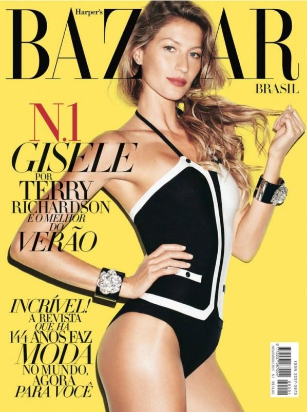 Gisele Bundchen Harpers Bazaar Brazil November 1 763x1024 Godina kroz naslovnice: Harpers Bazaar