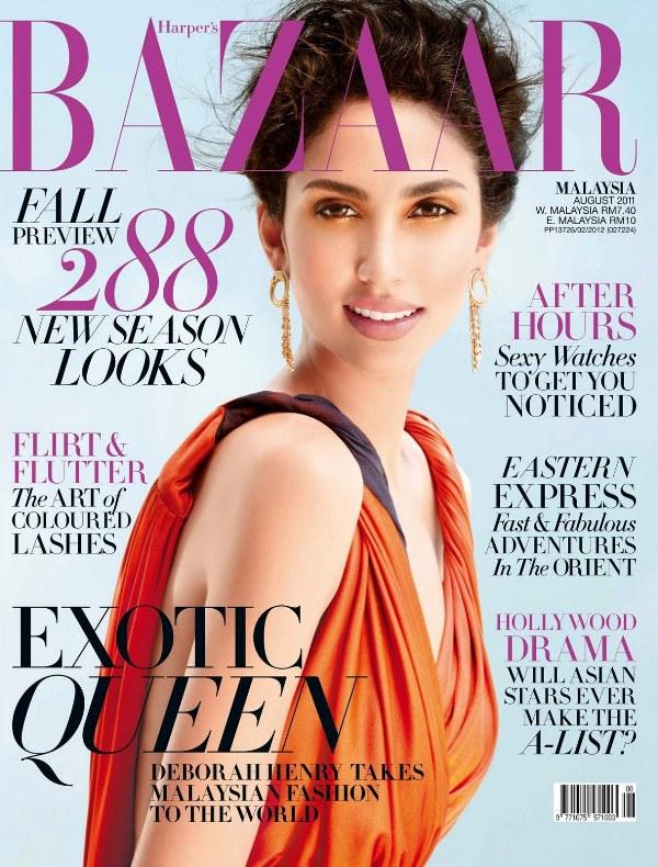 Harpers Bazaar Malaysia August 2011 Deborah Henry Cover Godina kroz naslovnice: Harpers Bazaar