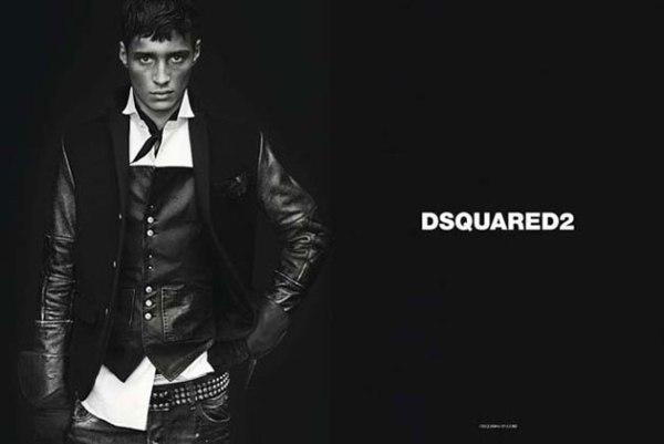 Kožna jakna i kaiš sa nitnama je IN Dsquared2: Crno i koža