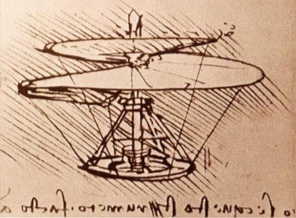 Leonardo da Vinči Leteća spirala Ljudi koji su pomerali granice: Leonardo da Vinci