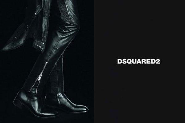 Musškarac takođe mora imati dobre čizme Dsquared2: Crno i koža