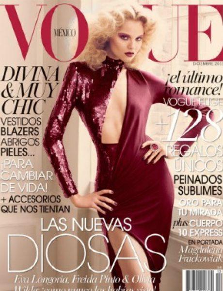 """Magdalena Frackowiak za """"Vogue Mexico"""" – decembar 2011."""