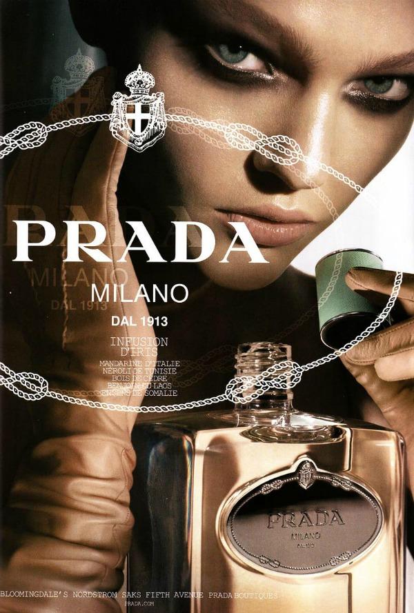 Prada parfem Manekenka za primer: Sasha Pivovarova