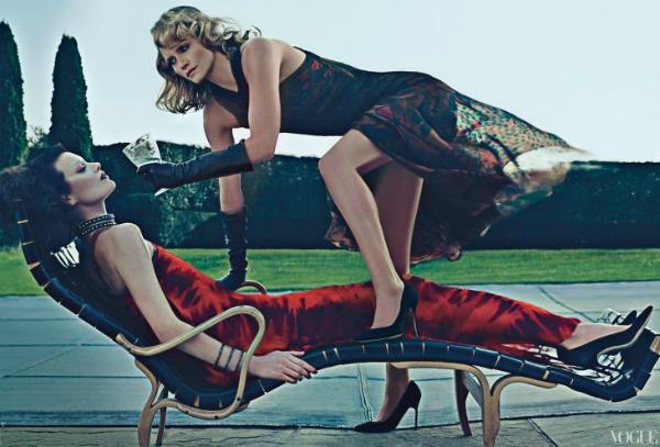 Vice Versa Steven Klein1a Amber Valletta & Shalom Harlow za Vogue US