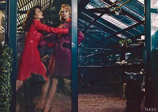 Vice Versa Steven Klein2a Amber Valletta & Shalom Harlow za Vogue US