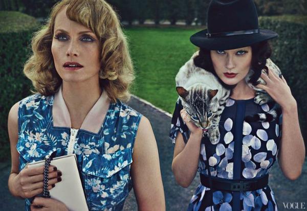Vice Versa Steven Klein5a Amber Valletta & Shalom Harlow za Vogue US