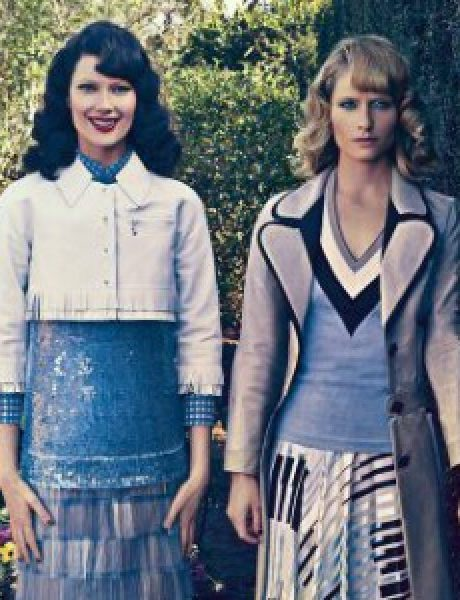 "Amber Valletta & Shalom Harlow za ""Vogue US"""
