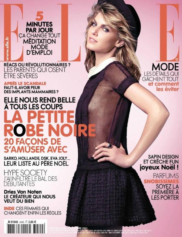 angela lindvall16A Mala crna haljina: Angela Lindvall za Elle France