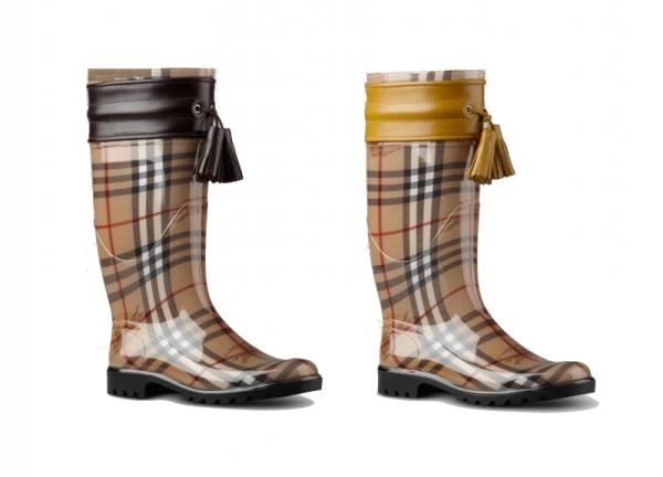 burberry rubber boots 2012 winter set3 Burberry voli gumu