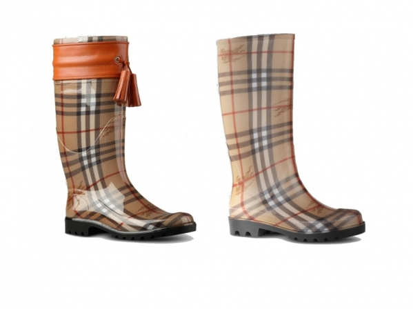 burberry rubber boots 2012 winter set4 Burberry voli gumu