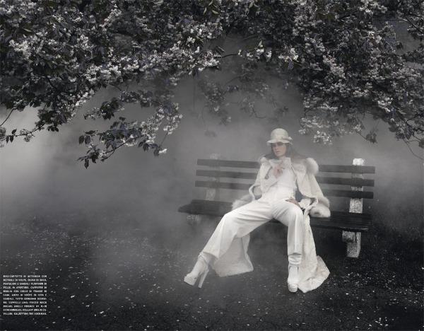 julia saner2 Julia Saner u zimskoj idili za italijanski Vogue