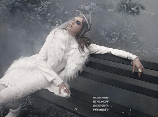 julia saner4 Julia Saner u zimskoj idili za italijanski Vogue