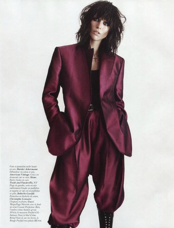raquel zimmermann8a I love Rock n Roll: Raquel Zimmermann za Vogue Paris