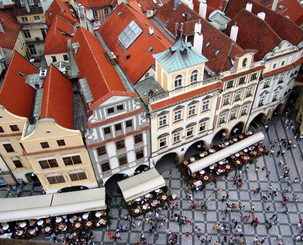 slika 47 Trk na trg: Staroměstské náměstí, Prag