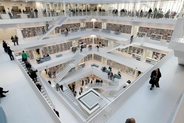 slika33 Neobične biblioteke: Nova gradska biblioteka u Štutgartu