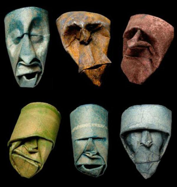 slika43 Umetnost od papira: Bube, činije i maske