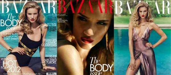 sssssss Rosie Huntington Whiteley za Harper's Bazaar UK