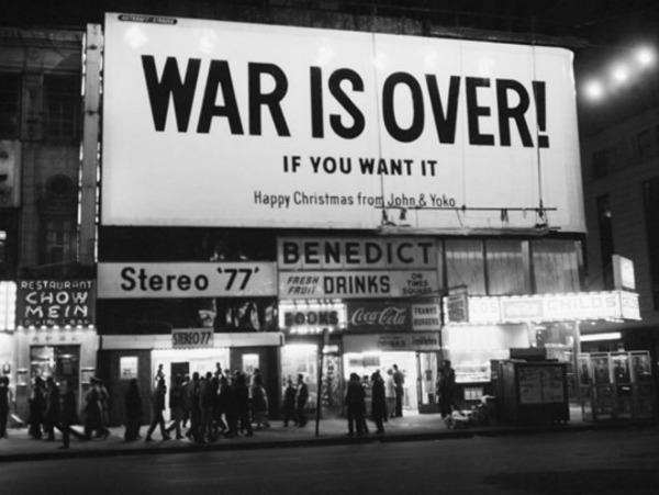 1. War is Over If You Want It Božić roka