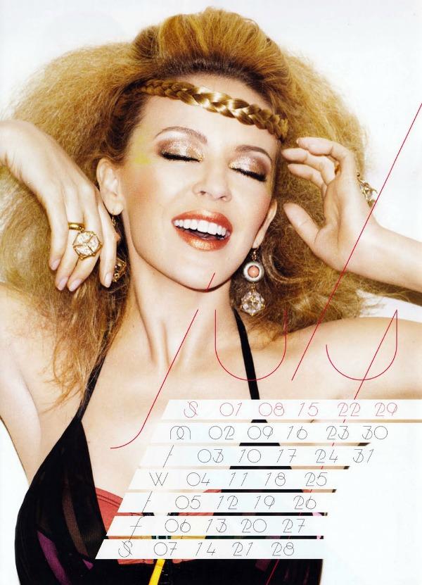 71 Kylie Minogue u kalendaru: Moćna Afrodita