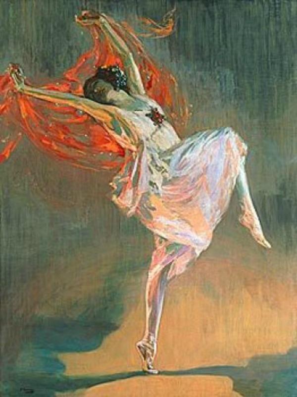 Cetvrta slika Balerine na platnu