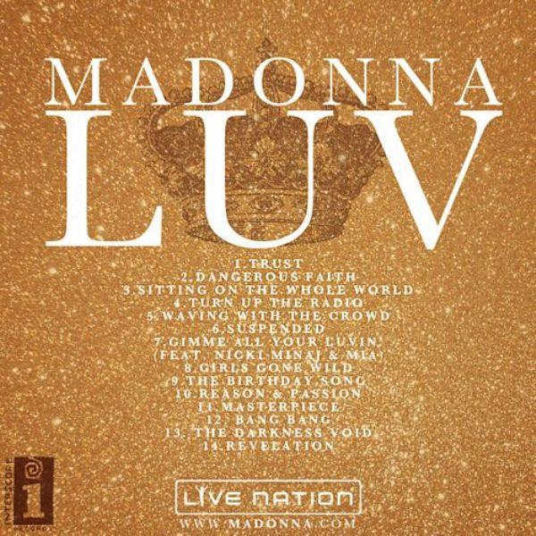 Madonnas Album Title and Track Listing Muzičke vesti: Comfortably Numb