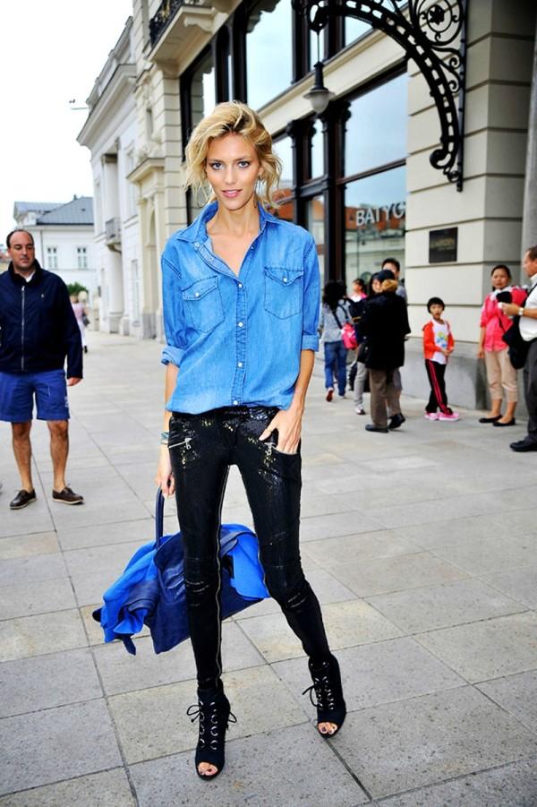 RhMYK Street Style: Anja Rubik