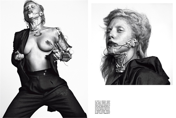 Seksipilna na neki svoj na in. LUomo Vogue: Lady Gaga na muški način