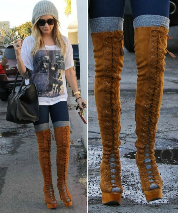 ashley tisdale boots style Fashion Police: Smešna strana mode